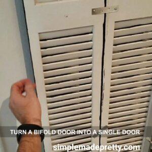 brackets to turn a bifold door into a single door