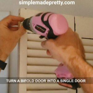 change a bifold door into a single door