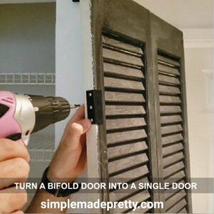 hinges for a bifold door into a single door