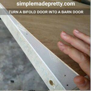how to turn a bifold door into a pantry door