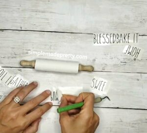 mini rolling pin decals