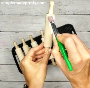 paint mini rolling pins