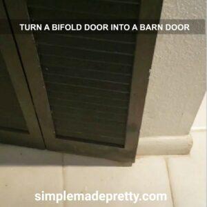 turn a bifold door into a single door