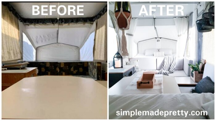 Pop Up Camper Before and After Pics