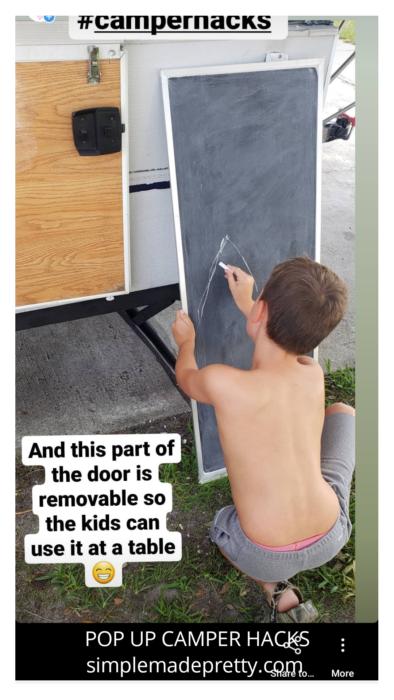 pop up camper hacks