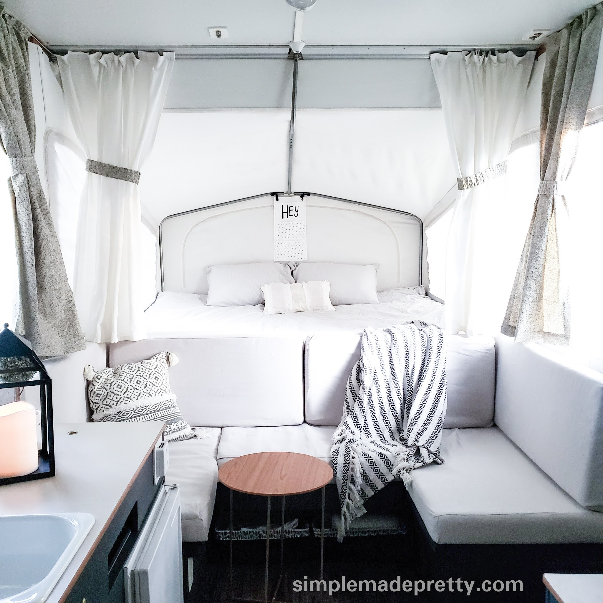 Pop Up Camper Remodel On A Budget Simple Made Pretty