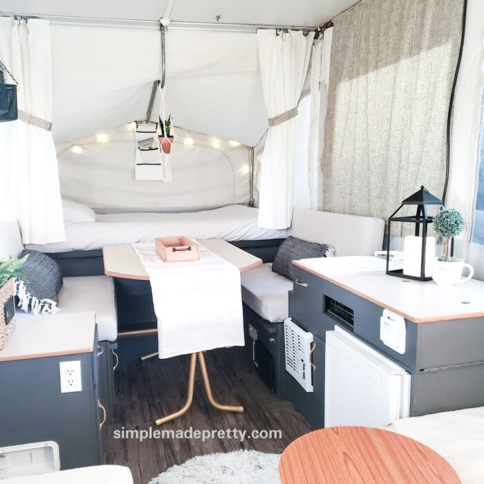 pop up camper remodel before and after tent trailers