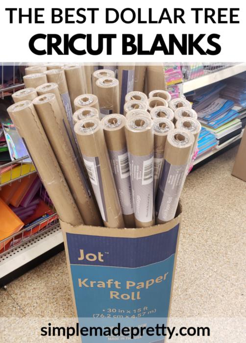 Cricut Blanks Brown Craft paper