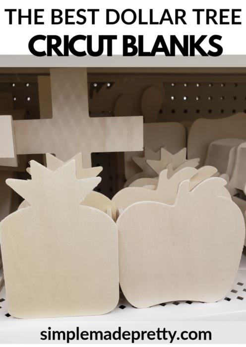 Cricut Blanks Crafters square Dollar Tree