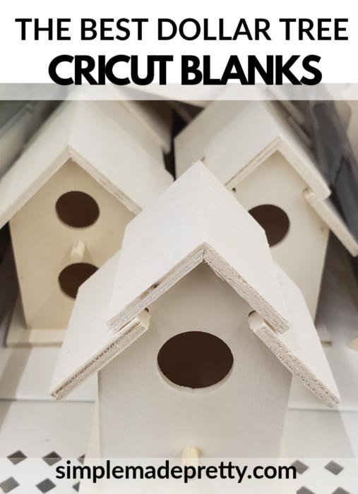 Cricut Blanks Dollar Tree Bird Houses