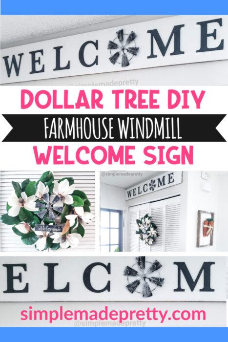 Dollar Tree DIY Farmhouse Windmill Welcome Sign pin