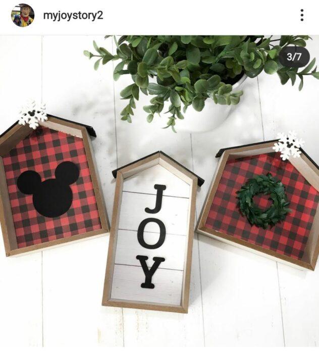 Dollar Tree Houses Disney Christmas Theme