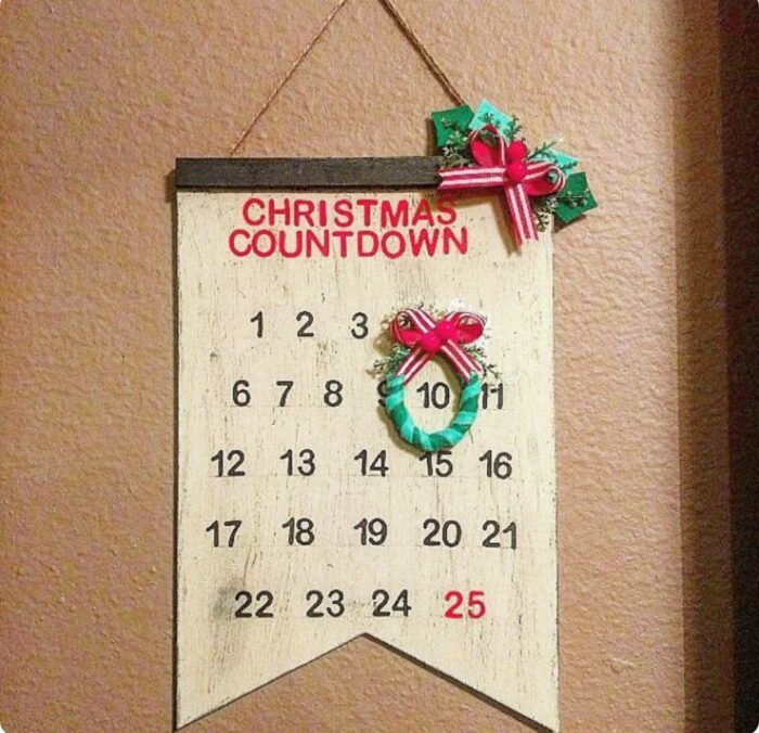 Dollar Tree Thinking of a master plan sign Christmas countdown