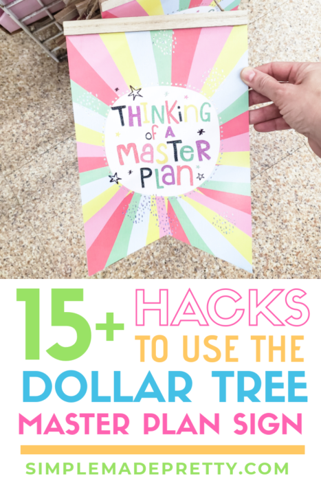 Dollar Tree sign hacks