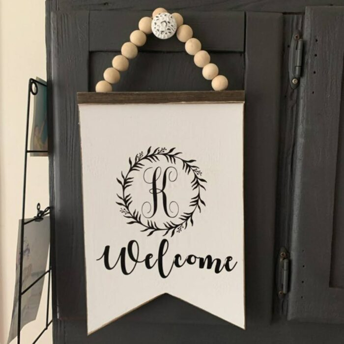Dollar Tree thinking of a master plan Welcome monogram sign