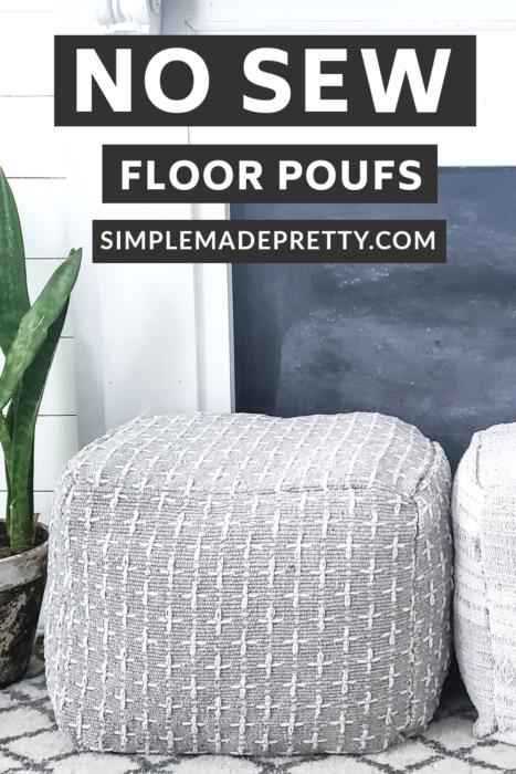 diy floor poufs no sew