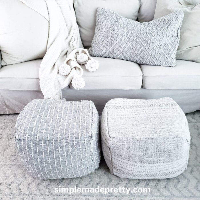 easy no sew floor poufs
