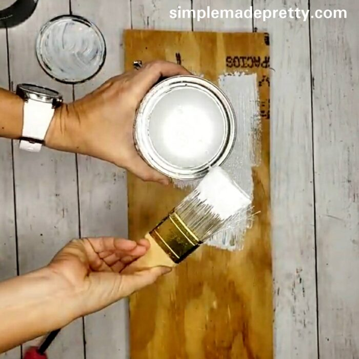 how to make a verticl sign