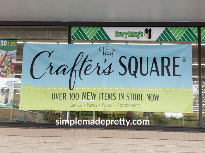 Crafts Square at Dollar Tree sign