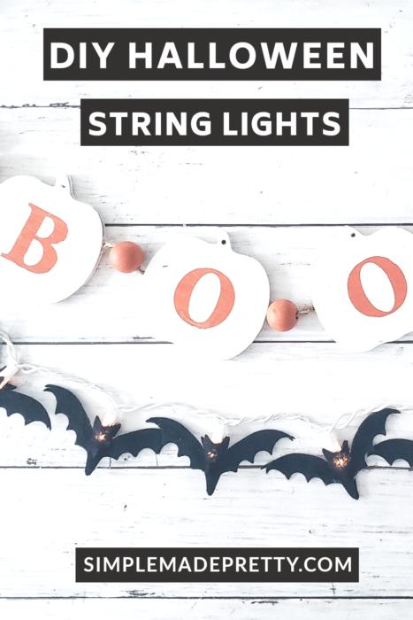 DIY Halloween String Lights Bats