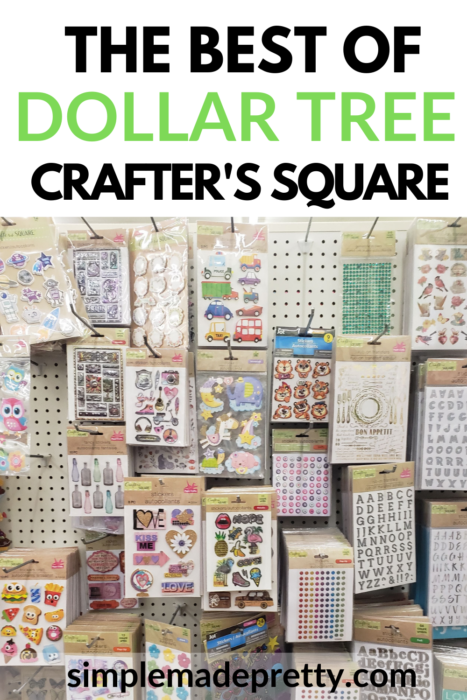 Dollar Tree Crafter's Square stickers