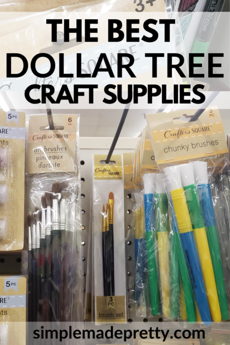 Dollar Tree Paint Brushes
