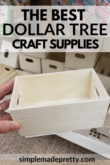 Dollar Tree Wood Box