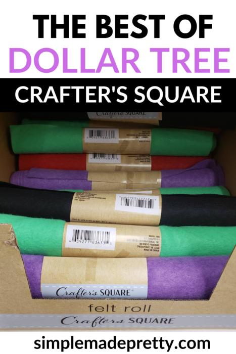 Dollar tree felt rolls