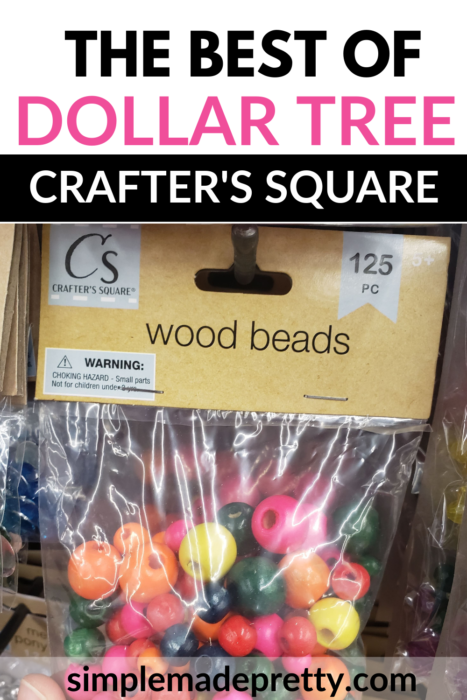 Dollar tree wood beads