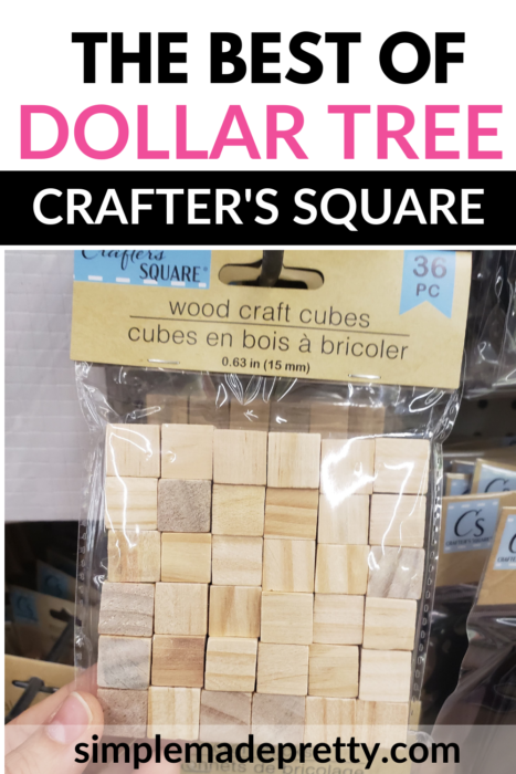 Dollar tree wood craft blocks
