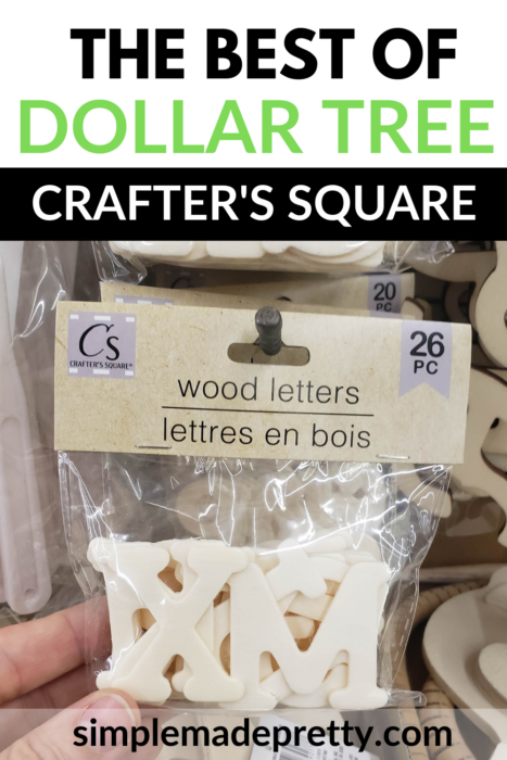 Dollar tree wood letters