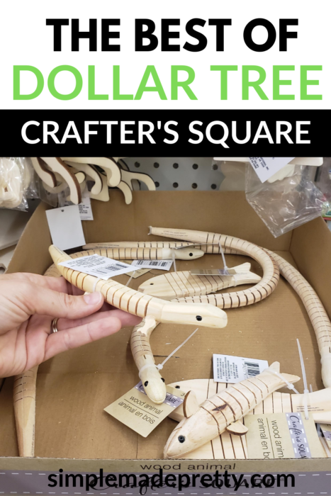 Dollar tree wood toys