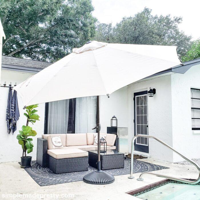Pool Patio Furniture with umbrella