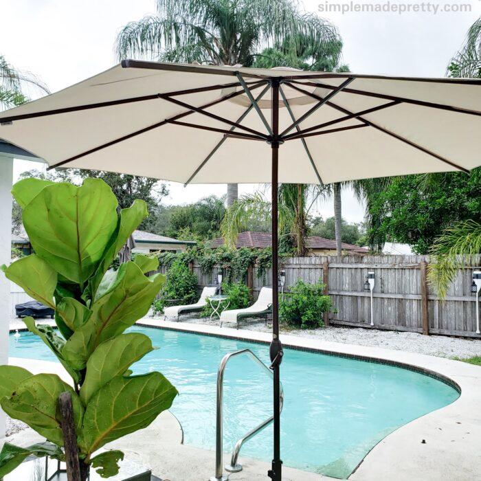 Pool Umbrella Decor Ideas