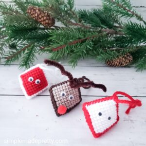 plastic canvas crafts Christmas ornamanets