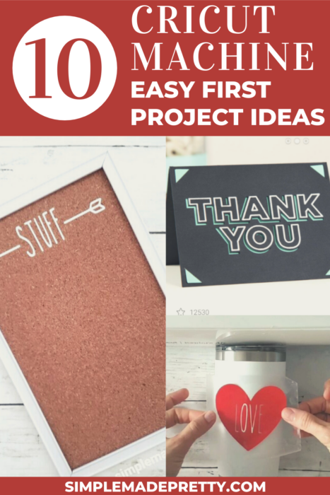 10 Cricut Machine Easy First Project Ideas