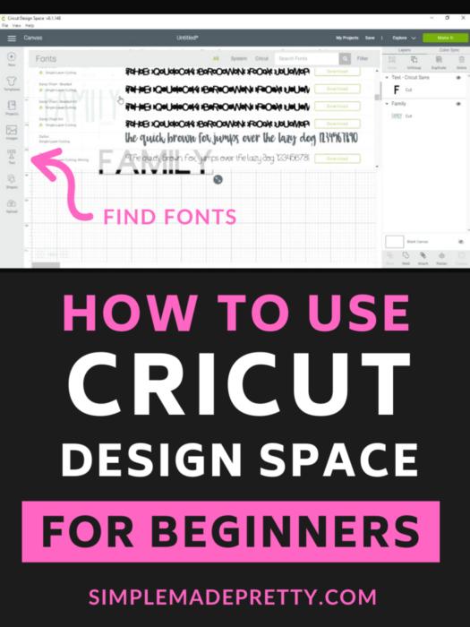 Cricut Design Space Fonts