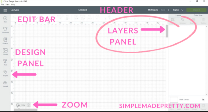 Cricut Design Space Layers Panel