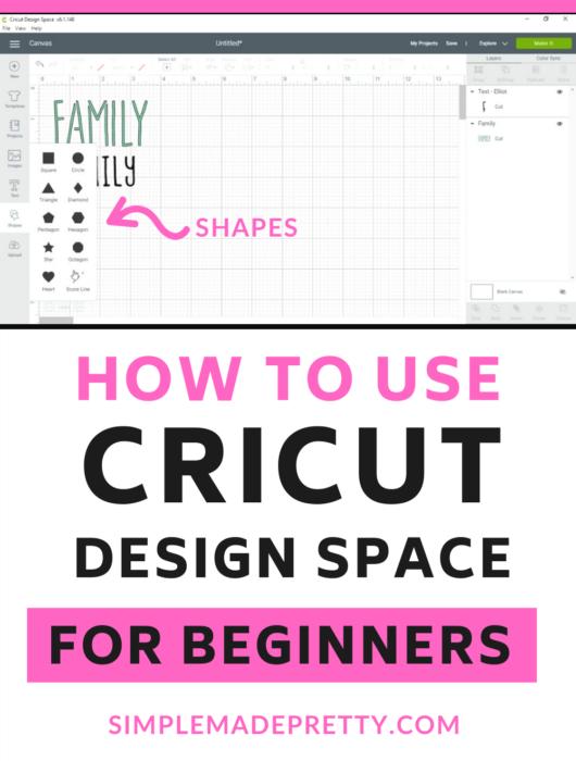 Cricut Design Space Shapes
