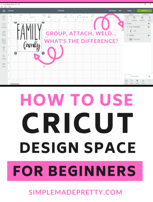 Cricut Design Space Weld Group Attach
