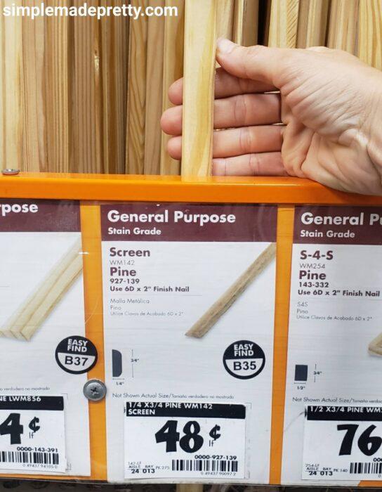 Wood Pine Trim for DIY Window Pane