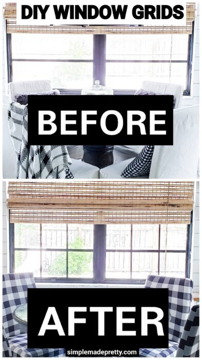 diy window grids black windows before after