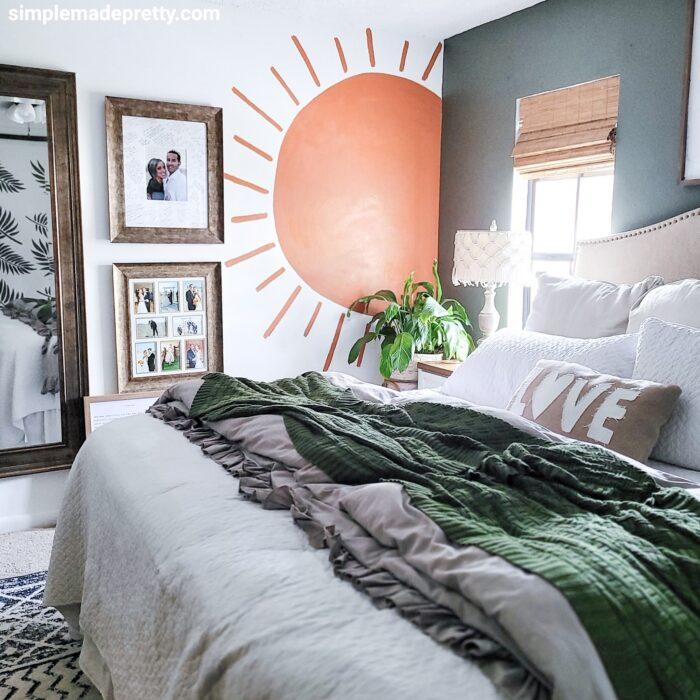 Boho themed bedroom