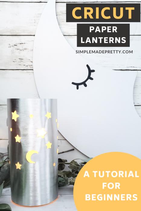 Cricut beginner projects paper lantern