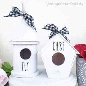 DIY Rae Dunn Birdhouses