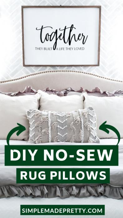 DIY rug pillows