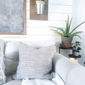 No sew rug pillow cover