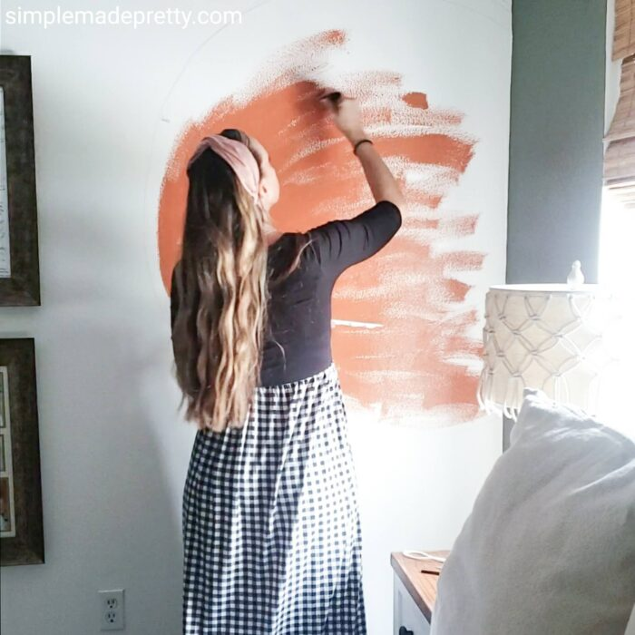 hand painted walls murals boho