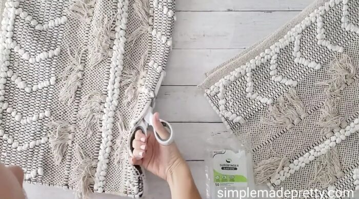 how to make pillows using rugs