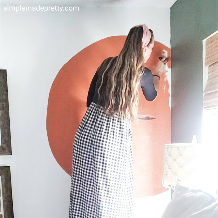 painted accent walls boho